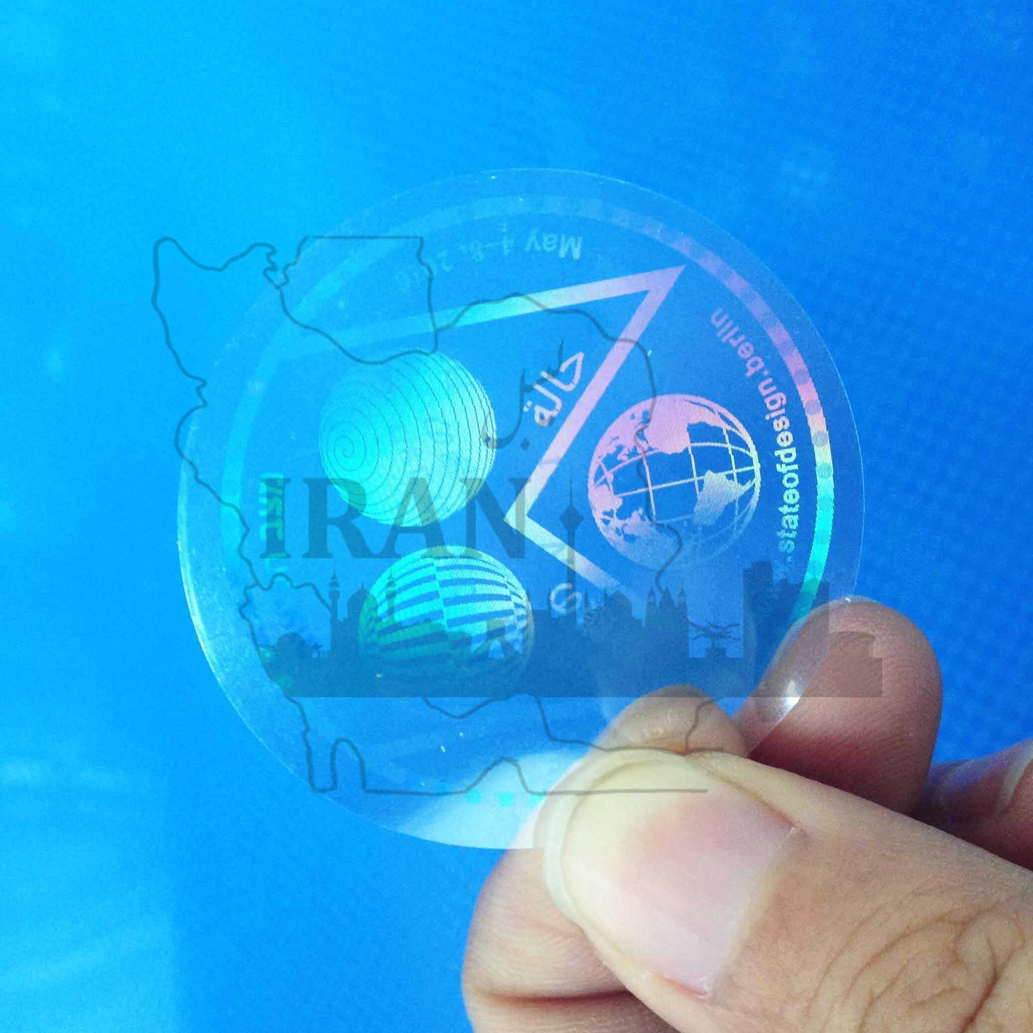 لیبل هولوگرام شفاف
